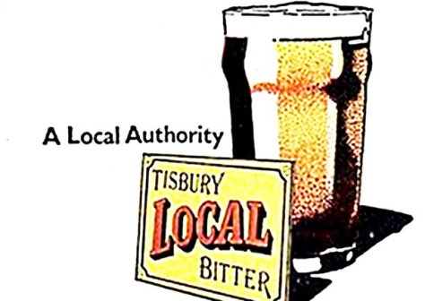 Beer mat detail: Tisbury Local Bitter -- a Local Authority.