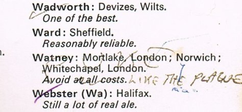 From the 1974 CAMRA Good Beer Guide.
