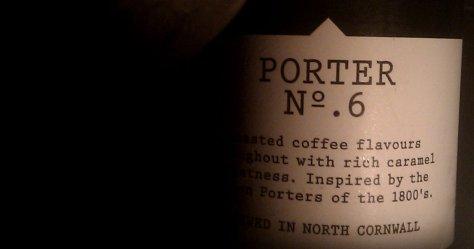 Beer bottle: Harbour Porter No 6