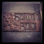 The Black Friar, City of London, 'Saloon Bar' sign.