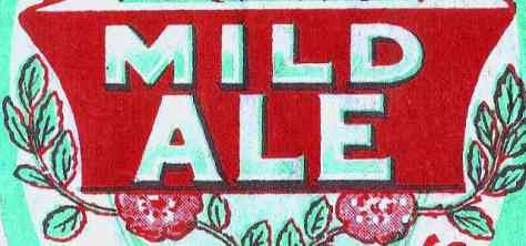 Detail from mild ale label.
