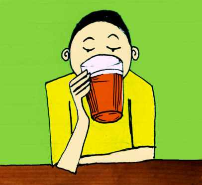 Illustration: pint drinker.