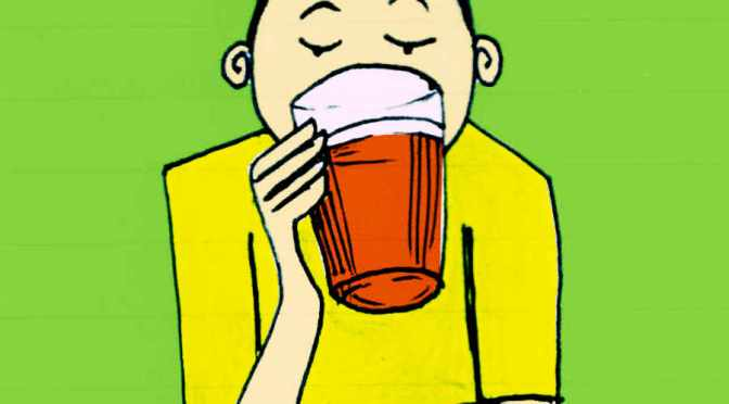 Illustration: pint drinker.