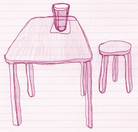 Illustration: beer on a table.