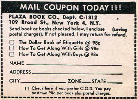 Coupon from vintage advertisement.