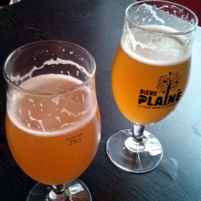 La Plaine beers (Blanche, Blonde).
