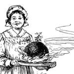 Victorian christmas pudding illustration.