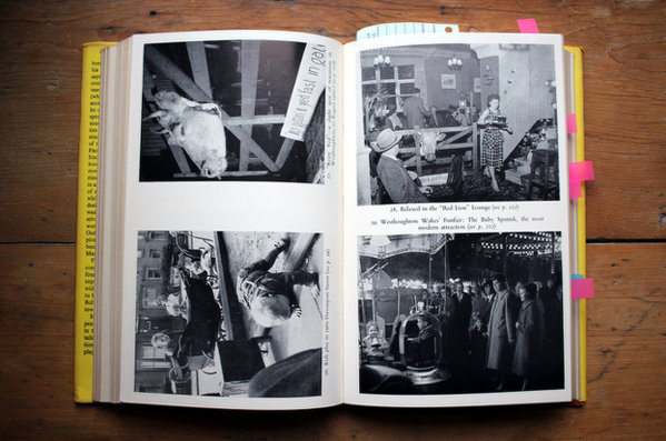 A photo spread from Britain Revisited feat. a shot of a pub.