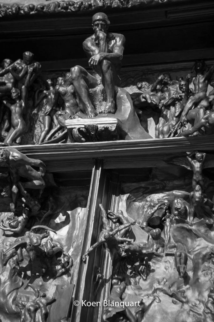 The gates from Hell by August Rodin - detail. Rodin Museum in Philadelphia. (Image: koen blanquart)