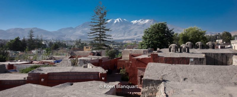 The convent, Arequipa and the mountains.