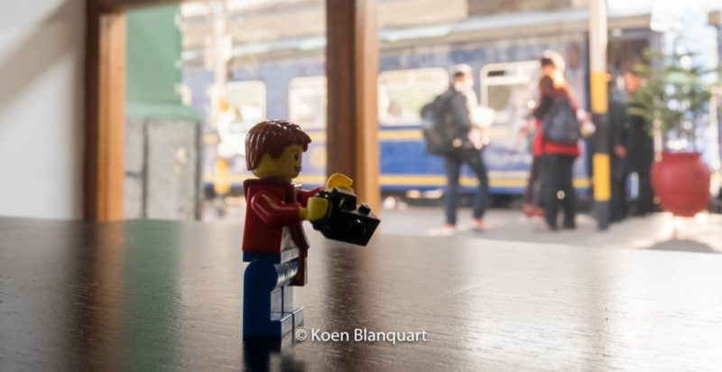 "My ""alter-Lego"" in the station of Poroy, waiting for the train to go to Machu Picchu."