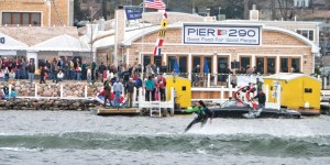 "Gage Marine's annual December ""Freeze for Life"" cancer fundraiser draws hundreds to watch skiers, wakeboarders and more brave Lake Geneva's frigid waters."