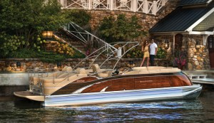 Bennington's 2575 QCW Mahogany Edition is one of the most opulent pontoons available today.