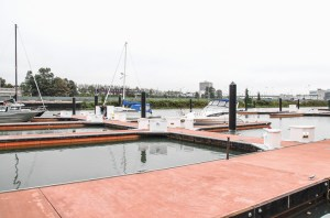 Concrete docks offer improved durability and style.