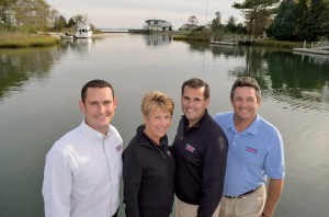 Ryan, Re, Jay and Jeff Strong at the company's original location at Mattituck Bay, N.Y. The family has expanded the business from one location to four with 50 full-time employees.