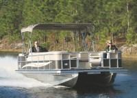 Island Boat's 18-foot expandable pontoon boat.