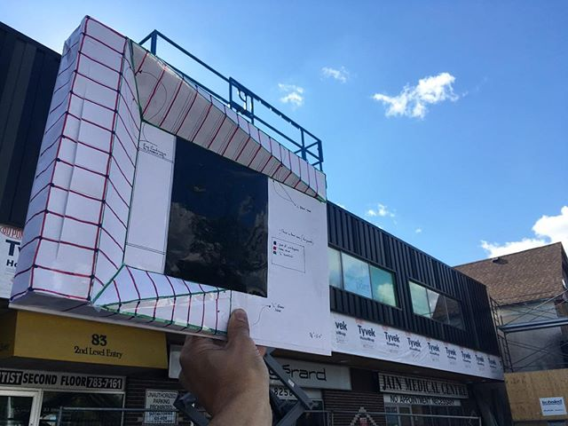 If your driving down Sherbrook st take a look to your right and  check out the building envelope retrofit we've been working on. It's not a huge project but it has big impact, we're working hard to make sure all the meticulous details come through. #winnipeg #designbuild #architecture #construction #retrofit #metal #siding