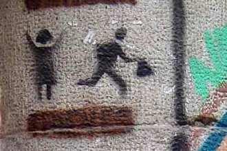 Bag snatch graffiti