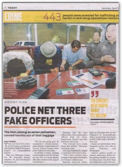 Fake police with false ID at Bangkok airport. How is one to know what's real?