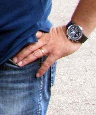 Frank's hand