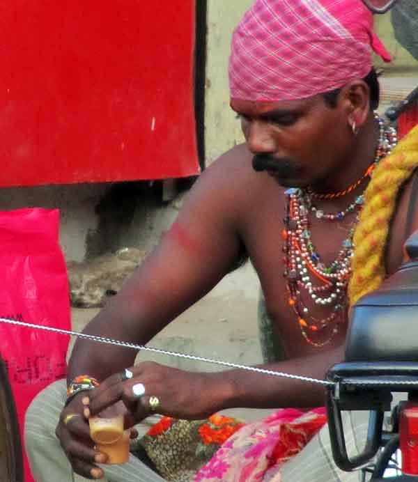 A Potraj on a tea break in Chennai last January.