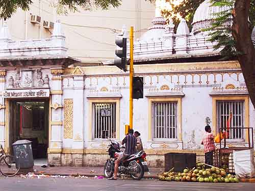 Eating Mumbai: I drank fresh coconut every day from this vendor around the corner from our hotel.