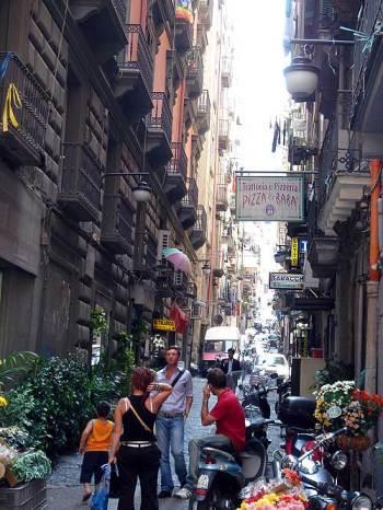 A small street in Naples' Quartieri Spagnoli