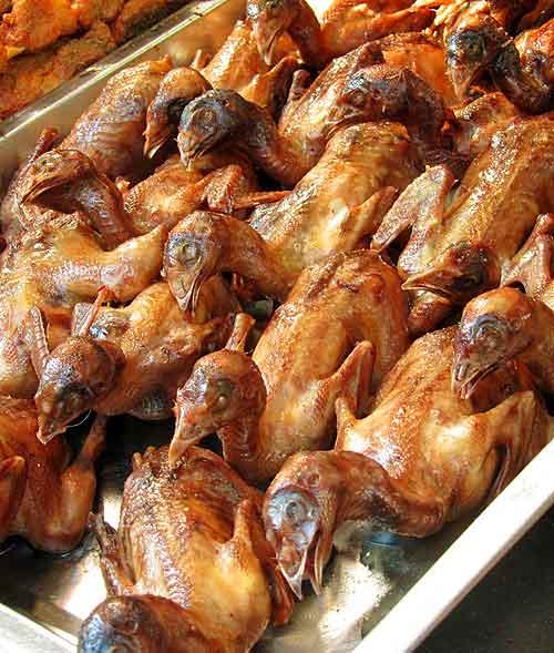 Beijing street food: Roast birds