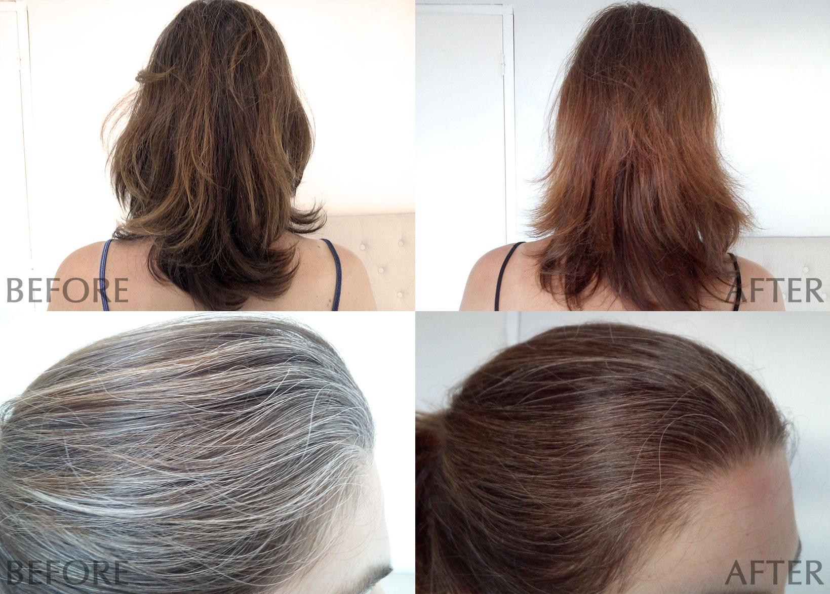 Coloration logona blond sur cheveux blancs