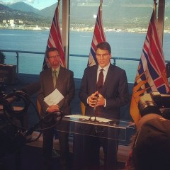 Lake (left) and Robertson announce mental illness funding Nov. 20, 2013. (via Mayor's Office Instagram)