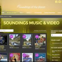 Web Design - Online Shop - Soundings of the Planet Music