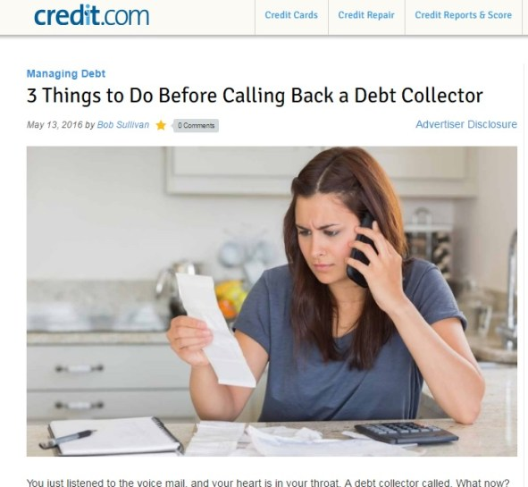 """Click to visit Credit.com, where you can find the helpful """"Debt Management Learning Center."""""""