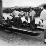 Assembling Boats, Waimakariri ?1946 or 1947.