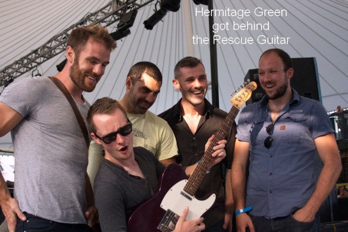 Hermitage Green Rescue Guitar