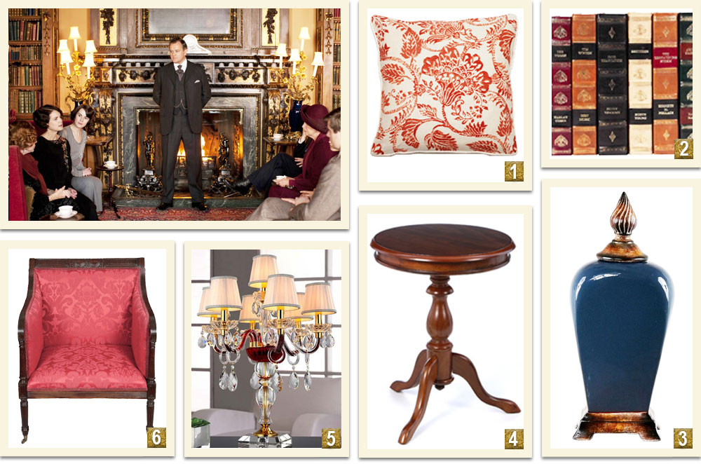 Downton-Abbey-Decor-Inspiration-From-The-Highclere-Castle-Library