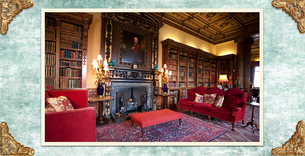 Downton-Abbey-Highclere-Castle-Library
