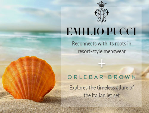 Swimwear by Orlebar Brown and Emilio Pucci Bulldog Collection