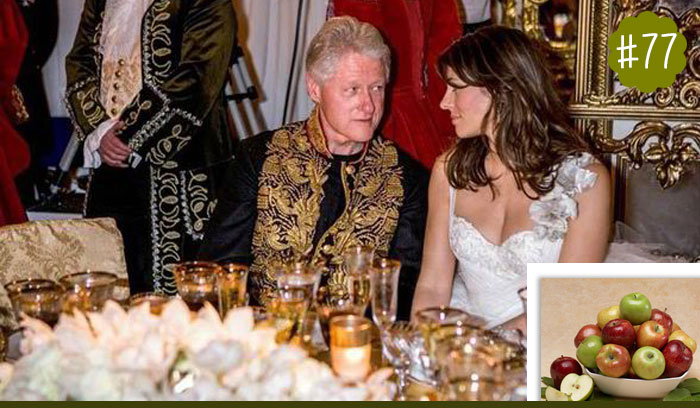 Bill-Clinton-loves-to-snack-on-apples