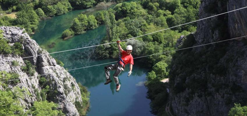 ZIP LINE IN OMIŠ! Zip Line Total Adrenaline Adventure