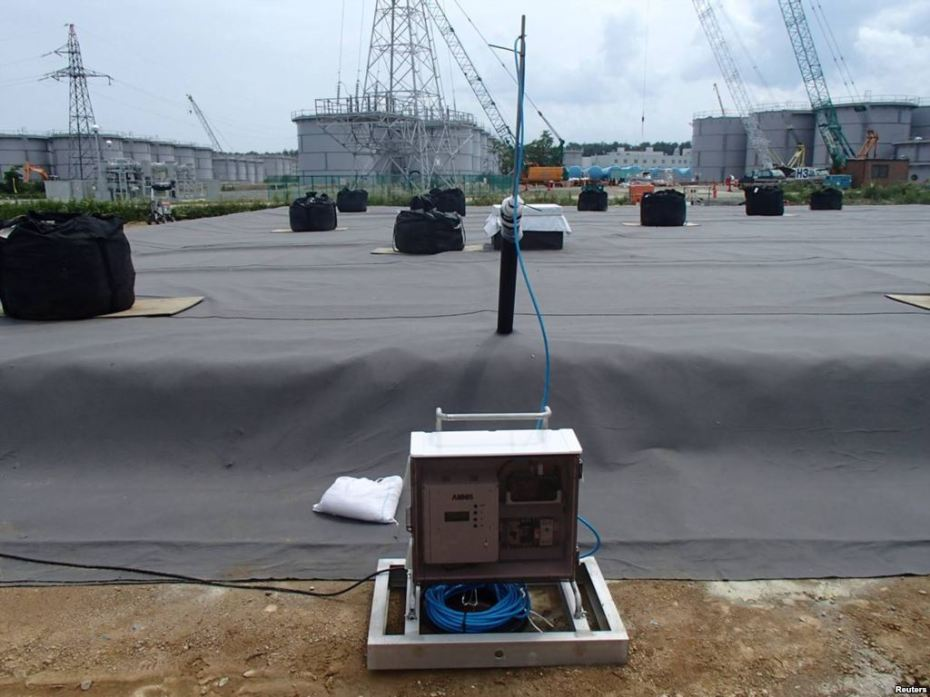 "Via VOA: ""A leakage detective unit (C) and its detection punch unit on an underground water storage tank are seen at TEPCO's tsunami-crippled Fukushima nuclear power plant in Fukushima, in this undated photograph released by TEPCO on April 6, 2013."""