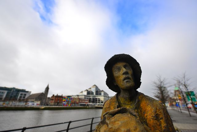 Male sculpture, 'Famine' by Rowan Gillespie