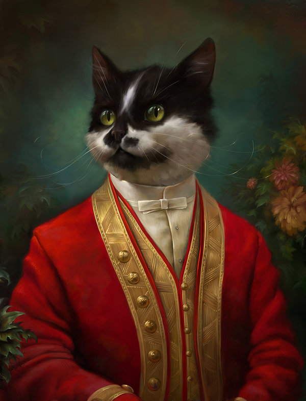 the_hermitage_court_waiter_cat_by_eldarzakirov-d6bnpue
