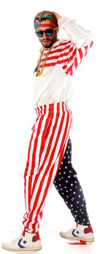 Flag hammer pants