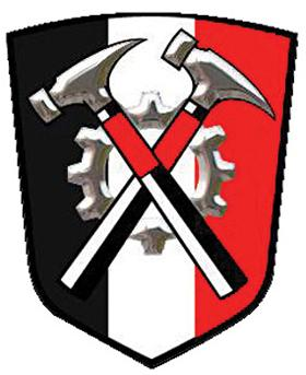 Logo of the Hammerskin Nation alliance of skinhead groups