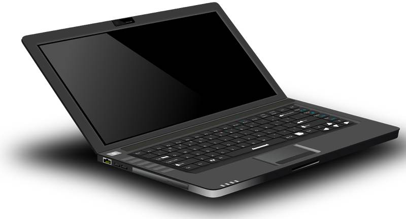 Laptop computers, such as the one seen here, can be used to view pornography (Stock Image)