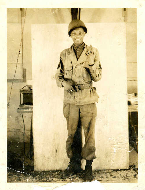 Rollins Edwards as a young soldier in 1945, in the Philippines.
