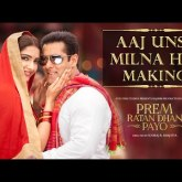 Enjoy the making of the romantic song 'Aaj Unse Milna Hai' from Prem Ratan Dhan Payo