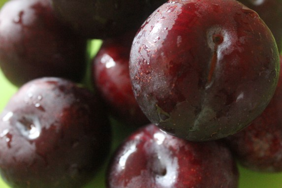 Fresh juicy plums