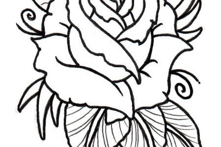 free rose tattoos designs