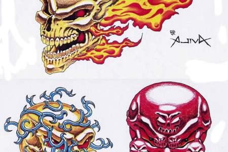 free printable skull tattoo designs